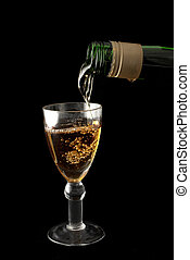 Wine And Glass #2 - Wine is being poured into a glass -...