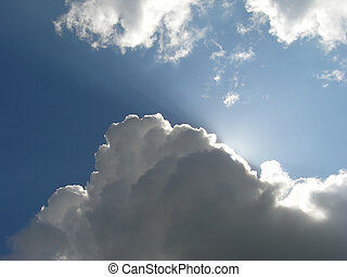 Sky with clouds – a religious scenario