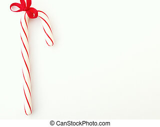 candy cane with red ribbon