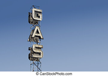Gas Sign 3 - An industrial looking sign for a gas station...