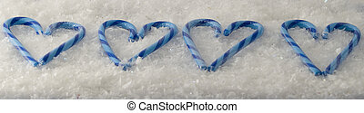 Candy Cane Hearts - Hearts made from candy canes