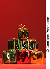 holiday packages - shinny stack of holiday packages