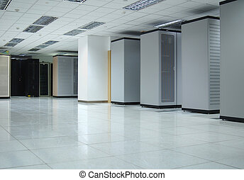 datacenter interior - The interior of a computer datacenter