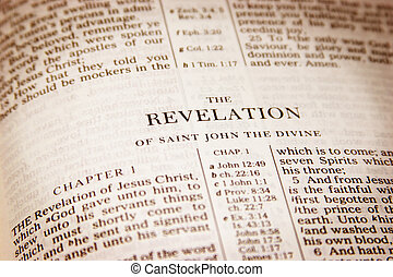 Revelation - Bible open to Revelation