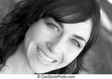 Blue Eyes Woman - Beautiful blue eyes woman