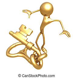 Knotted Key - Concept & Presentation Figure 3D (GeoZ014)