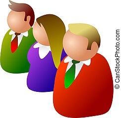 business team - icon people