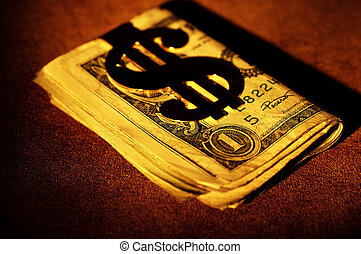 Money With a Gold Money Clip