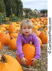 harvest 7021 - girl and pumpkins