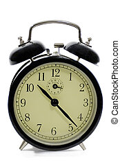 Alarm Clock - Old fashioned alarm clock on white background