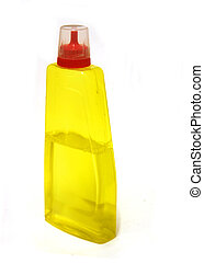 Cleaning fluid - Bottle of yellow cleaning fluid
