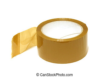 Parcel tape - New roll of parcel tape - isolated