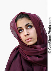 Middle east beauty - Middle eastern beauty in a scarf...