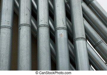 Industrial Pipes - Industrial looking rooftop pipes.