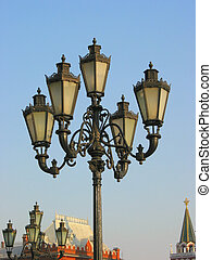 Lightpost in Moscow, Russia - Lightpost near the Red Square...