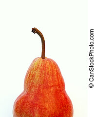 red pear - a red pear along the bottom edge