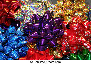 Christmas Bows - Lots of Christmas bows.
