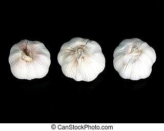 Garlic bulbs on black 2