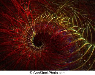 heat storm - abstract fractal background created with...