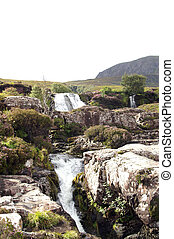 highland waterfall - waterfall in the north west Highlands...