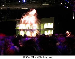 Go Go Dancer - Go Go dancer in a club going crazy. Motion...