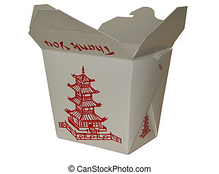 Small Chinese To Go - small white chinese to go box