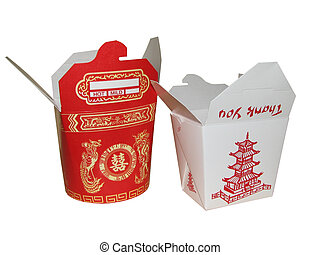 Large and Small Chin - large and small chinese to go box