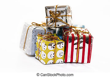 Christmas packs - Christmas presents isolated