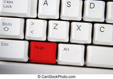 Hug Key - computer keyboard key with the word hug on it...