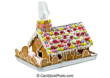 Gingerbread House - Isolated gingerbread house