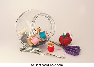 Sewing equipment - Hand sewing kit including pin...