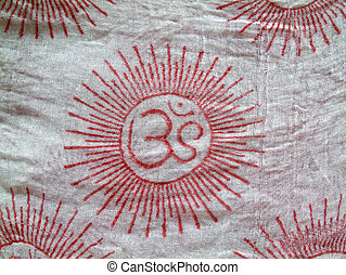 Om on cloth - OM design on a scarf cloth