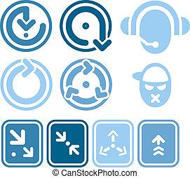 diseño, elementos, iconos, P, 1b