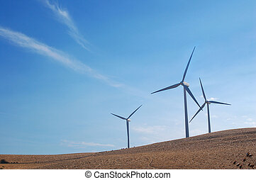 California Modern Windmills - Modern windmills in northern...