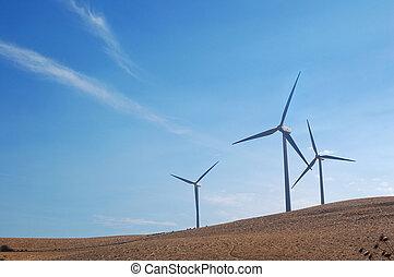 Califórnia, modernos, Moinhos vento