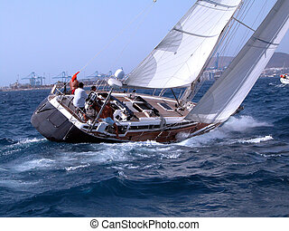 Action! - During a regatta in Canaries