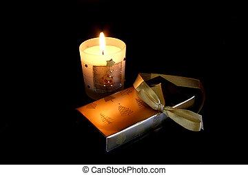 Candlelit Christmas - Christmas candle and gift