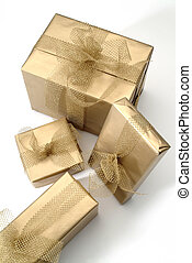 gifts - four golden box