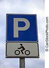 Parking Sign - A Parking Sign For Motorcycles
