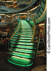 Lighted Glass Stairs