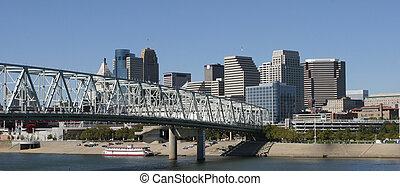 Cincinnati Skyline - Cincinnati skyline on a clear blue sky...