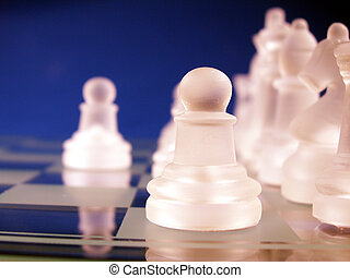 pawn in focus on chess board