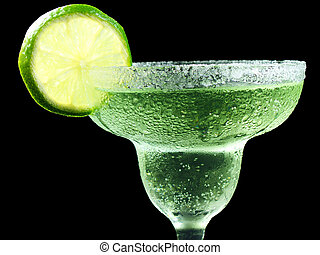 top half of a margarita - margarita with lime and salt...