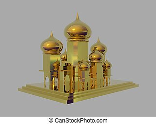 Golden Palace - Isolated golden palace