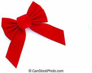 red bow 3 - red bow in upper left corner