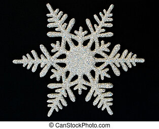 snowflake 2 - snowflake on black