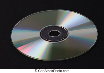 Compact Disk - Compact disc, black background