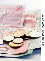 Canadian Bills and Coins - An assortment of Canadian bills...