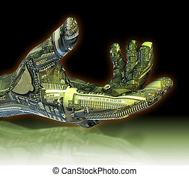 Robotic Hand - A clipping path is included in the JPG, for...