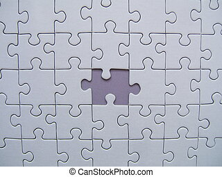 Puzzle background with blue missing element